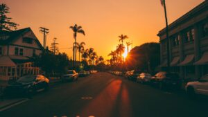 Street Sunset Wallpaper